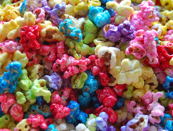 Colored Popcorn!