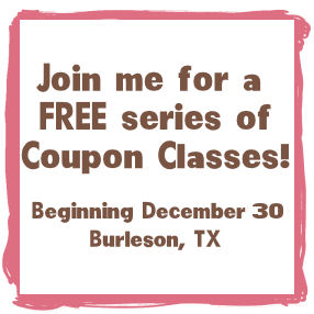 FREE Series of Coupon Classes! (Burleson, TX)