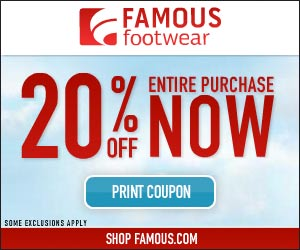 Exclusive 20 Off Famous Footwear Coupon Hustle Mom Repeat