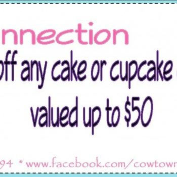 Frugal Connection:  1/2 Off at Cowtown Cakes & Catering in Joshua, TX