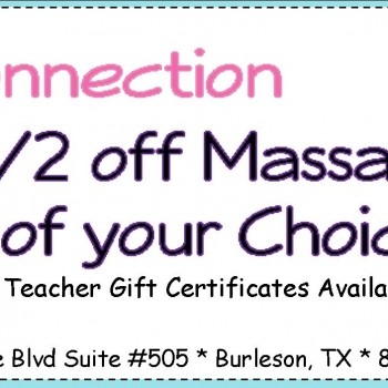 Frugal Connection:  Lie-ven-taa Coupon – 1/2 off Massages!