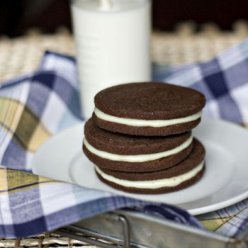 Homemade Peanut Butter Oreos.