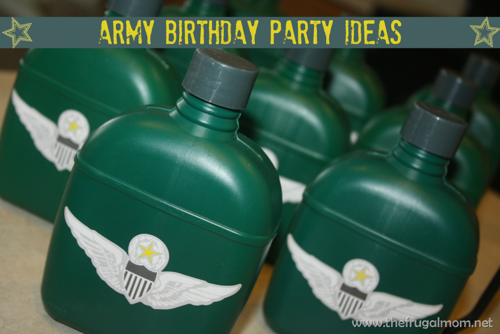 army birthday party ideas