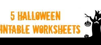 5 Halloween Printable Worksheets