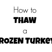 thaw a frozen turkey