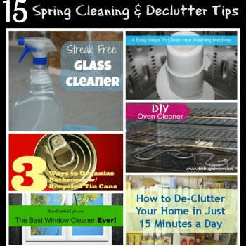 Spring Cleaning and De-clutter Tips