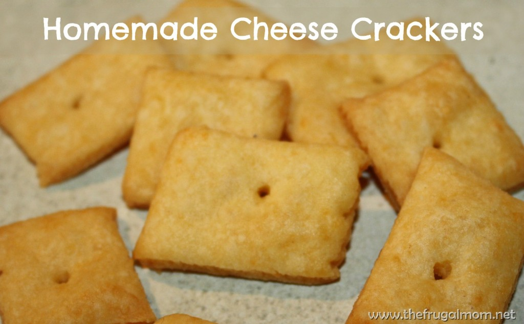 ... vs sweet, I decided to try something new: Homemade Cheese Crackers
