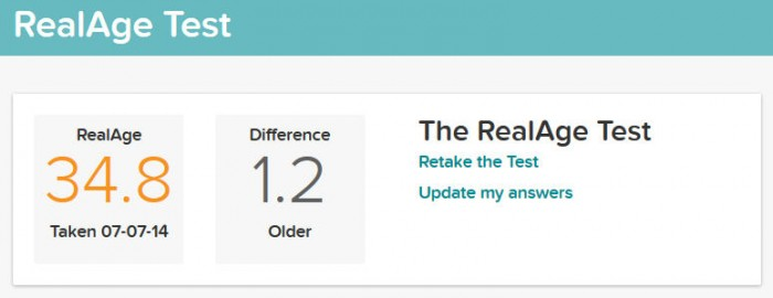 See Just How Old You Are With The Real Age Test