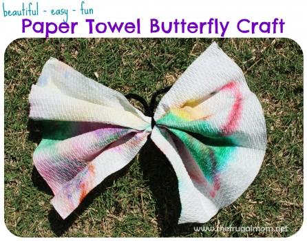 paper towel butterfly