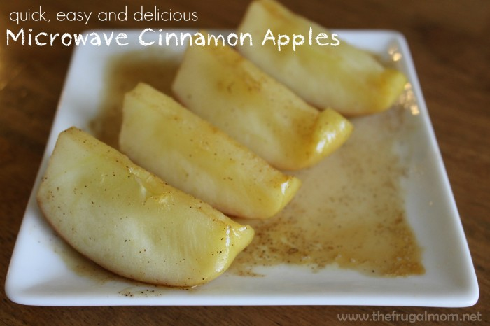 microwave cinnamon apples