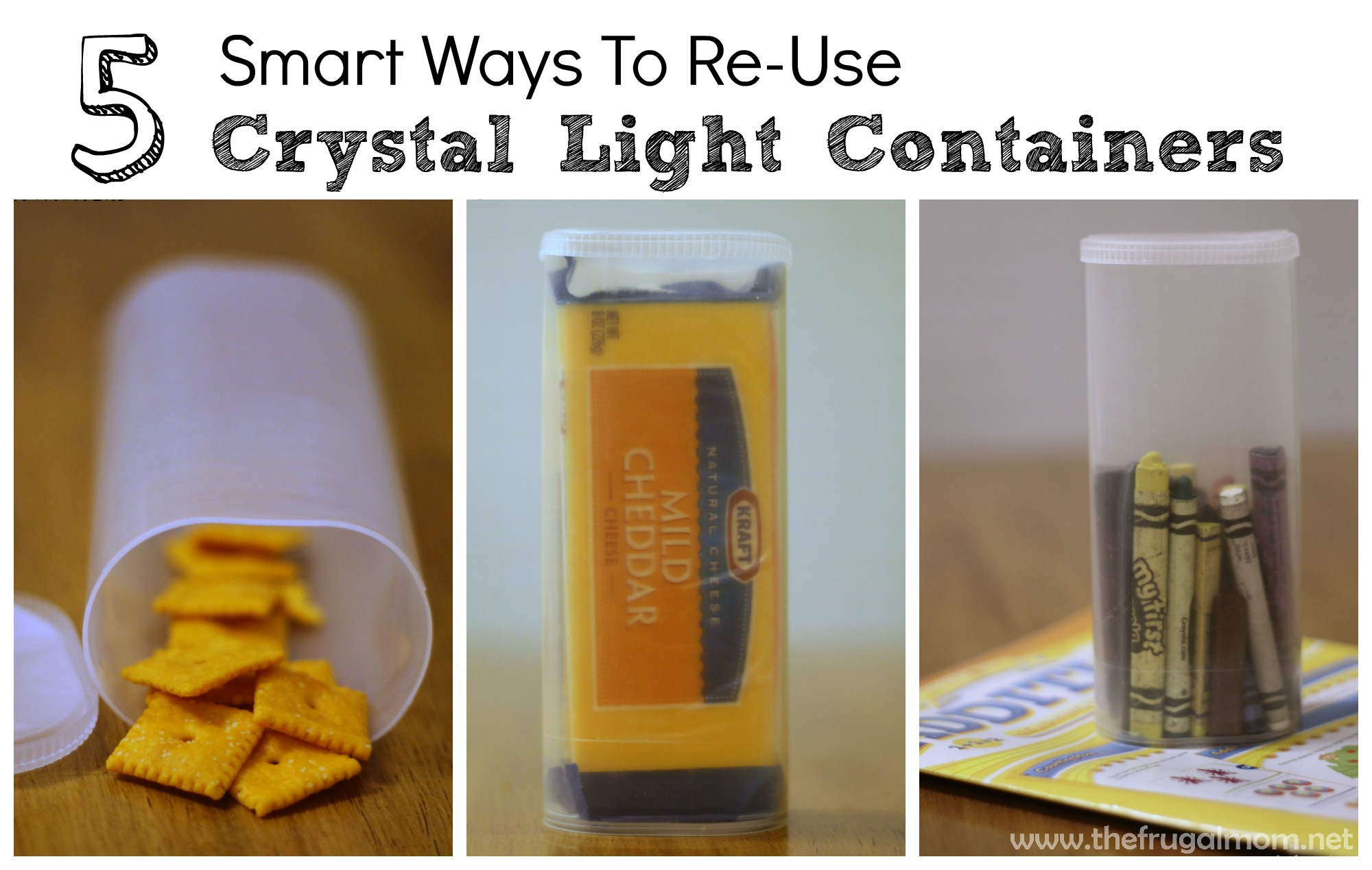 ... reuse Crystal Light containers… but the possibilities are endless