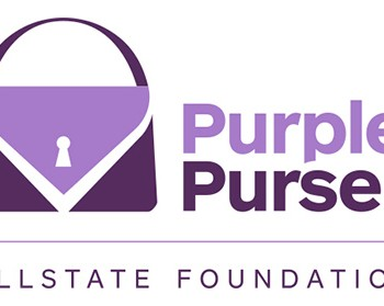 Allstate purple purse
