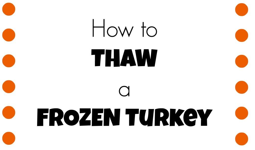 thaw a frozen turkey