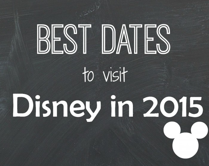 best dates to visit disney