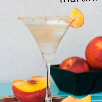 Finish Summer With A Refreshing Peach Cobbler Martini