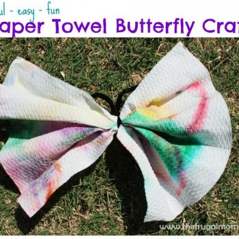 Fun and Easy Paper Towel Butterfly Craft