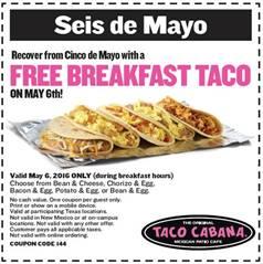 taco cabana coupon
