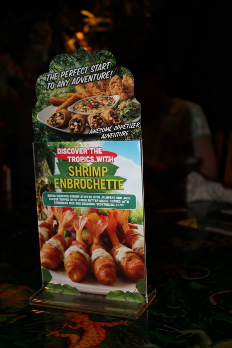 rainforest cafe yucatan menu