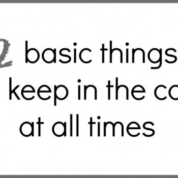 12 Basic Things To Keep In The Car At All Times