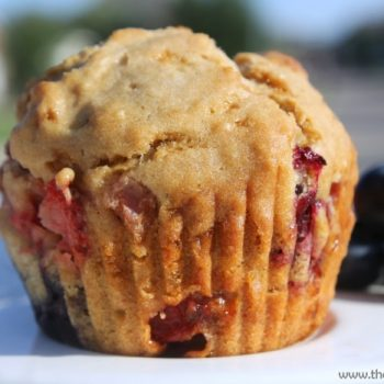 Celebrate The Day With Strawberry Blueberry Muffins with Walnuts