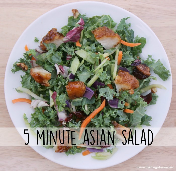 5 minute asian salad