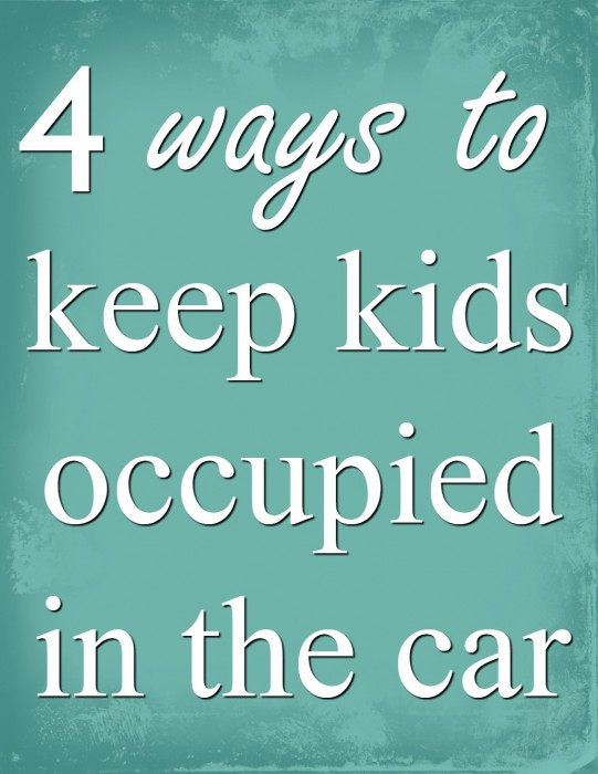 keep kids occupied in the car