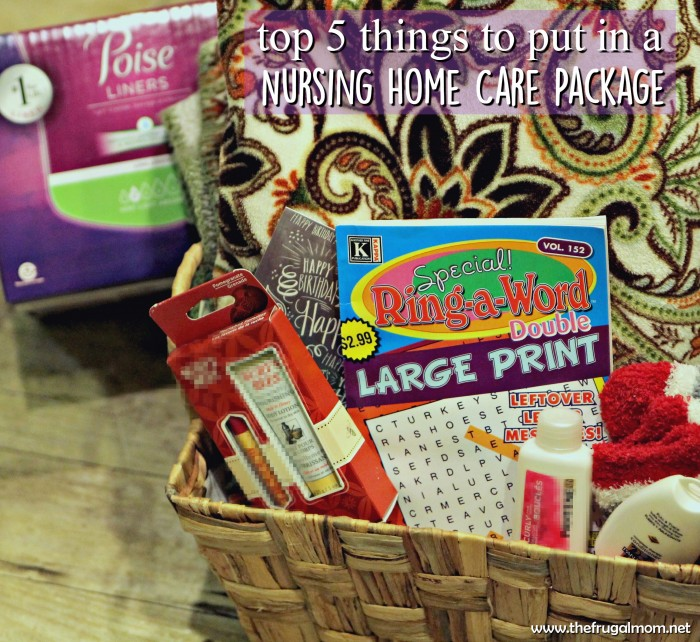 Top 5 things to put in a care package for nursing homes Gifts for home builders