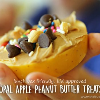 Lunchbox Friendly Apple Peanut Butter Treats @OpalApples