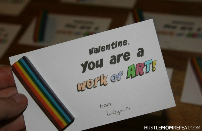 valentine color craft