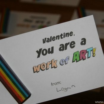 Get Creative With a Free Crayon Printable Valentines Day Card