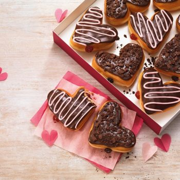 Sweeten The Day With Dunkin Donuts Heart Shaped Donuts and Vanilla Cupcake Coffee
