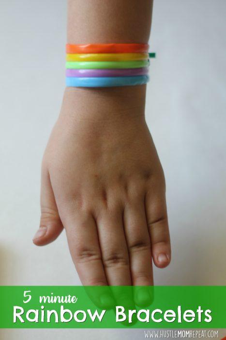 St. Patrick's Day Rainbow Bracelets