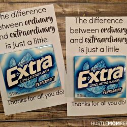 Easy FREE Teacher Appreciation Printable For Gum