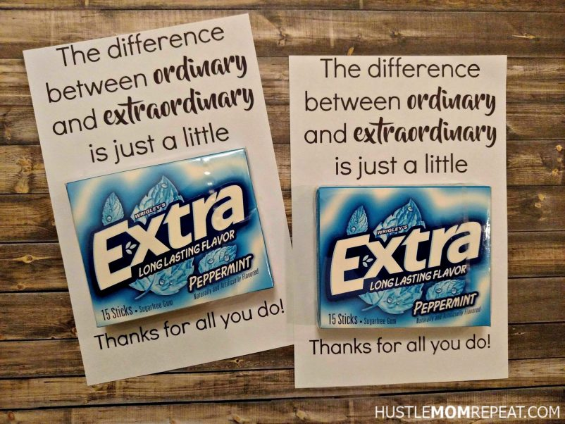 image relating to Extra Gum Teacher Appreciation Printable titled Very simple Cost-free Instructor Appreciation Printable For Gum - Hustle