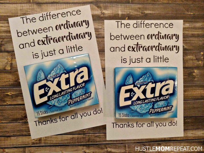 Easy FREE Teacher Appreciation Printable For Gum - Hustle