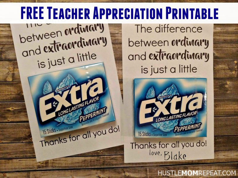 teacher appreciation gift printable