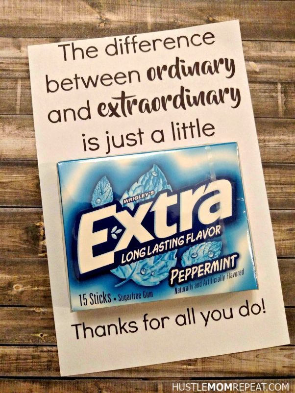 image regarding Extra Gum Teacher Appreciation Printable called Straightforward Free of charge Instructor Appreciation Printable For Gum - Hustle