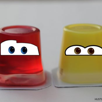 Cars 3 Party Idea: McQueen and Ramirez Jello Cups #Cars3Event