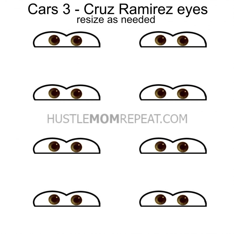graphic regarding Lightning Mcqueen Eyes Printable identified as Automobiles 3 Bash Concept: McQueen and Ramirez Jello Cups