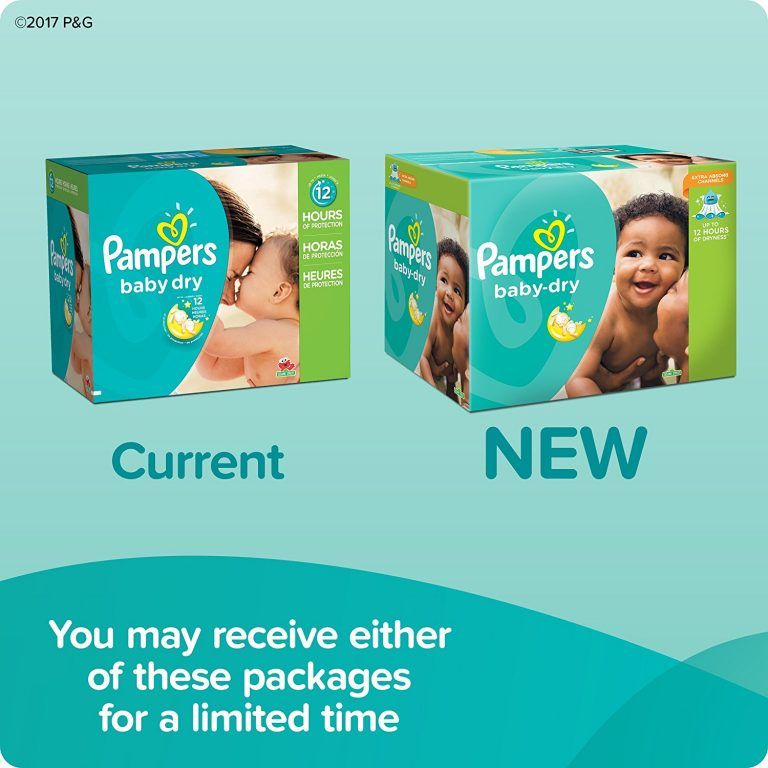 pampers baby dry new package