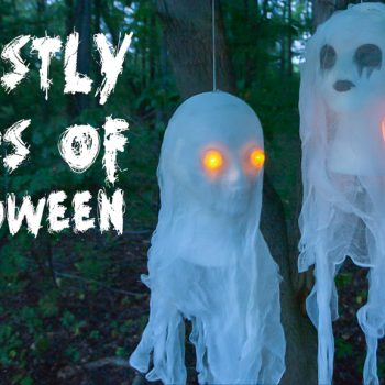 DIY Cheesecloth Ghost Decorations For Halloween