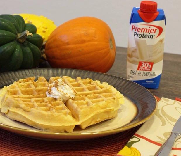 Protein Pumpkin Waffles