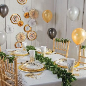 5 Must Have Items For A Black and Gold New Year's Eve Party For Kids