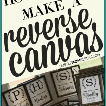 How To Make A Reverse Canvas Sign