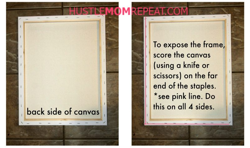 How To Make A Reverse Canvas Sign - Hustle Mom Repeat