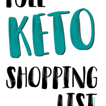 Keto Shopping List (With Recipes)