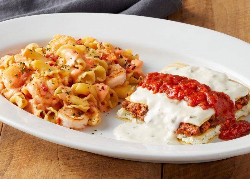 Shrimp Fra Diavolo & Mama's Lasagna Bolognese