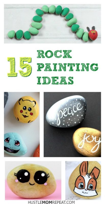 rock painting pin