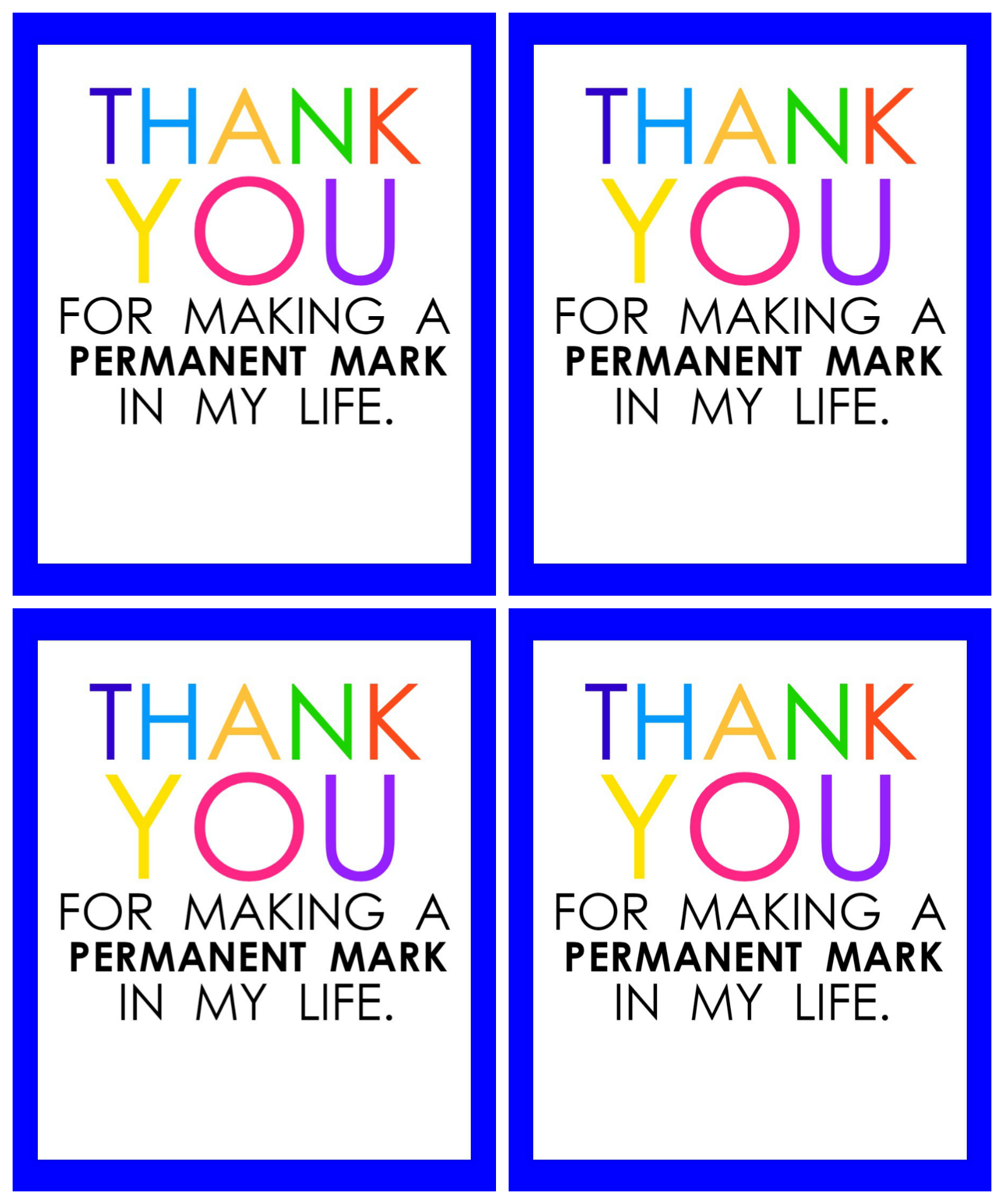 graphic relating to Thank You Printable Tag referred to as Trainer Appreciation Marker Reward Tag (No cost Printable
