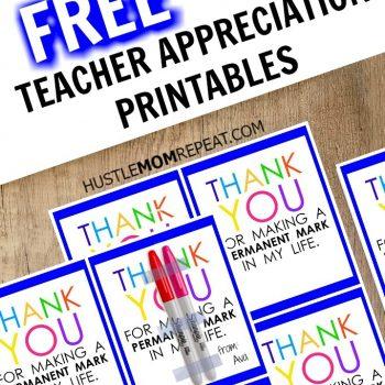 Teacher Appreciation Marker Gift Tag (Free Printable) #TeacherAppreciationIdeas
